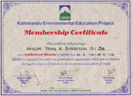 Kathmandu-Environmental-Education-Project-KEEP-Certificate