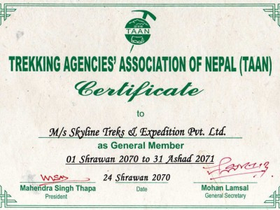Trekking Agencies Association of Nepal (TAAN)
