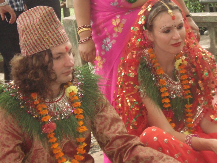Traditional wedding in nepal nepal typical wedding for Wedding dress nepali culture